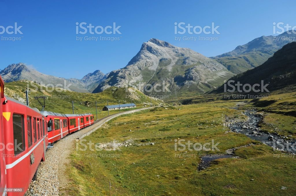 Train ride stock photo