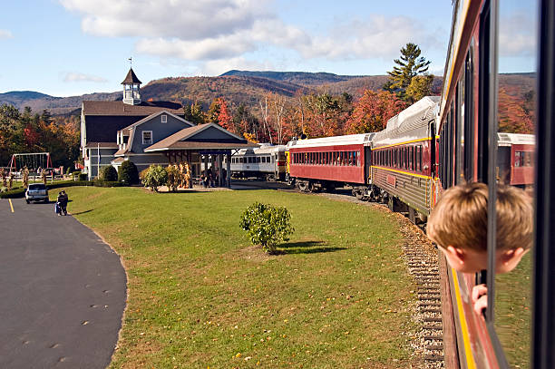 Train ride  white mountains new hampshire stock pictures, royalty-free photos & images