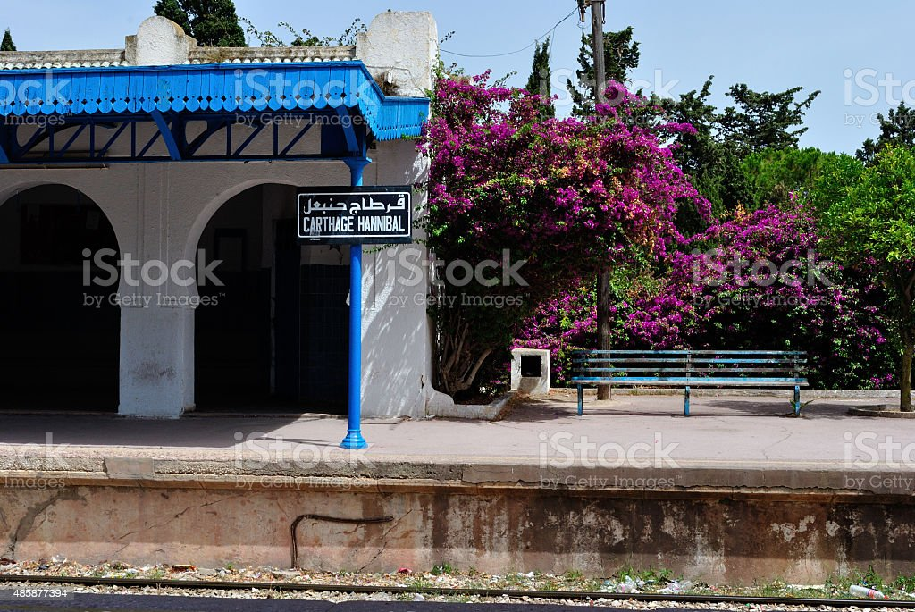 Train Sattion in Tunis stock photo