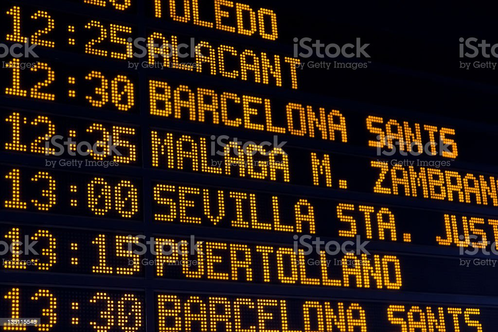 Train Schedule Stock Photo - Download Image Now - iStock