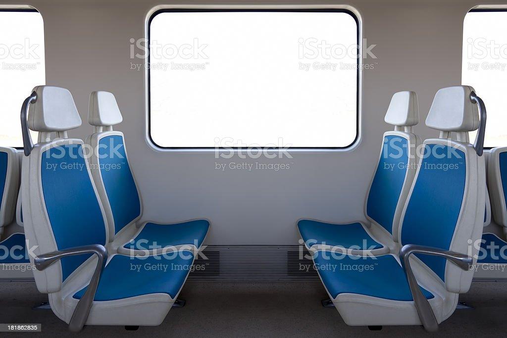 Train Seat stock photo