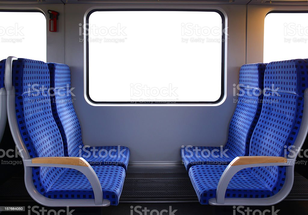 Train seats stock photo