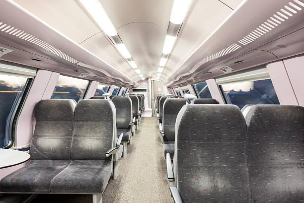 train seats - järnvägsvagn tåg bildbanksfoton och bilder