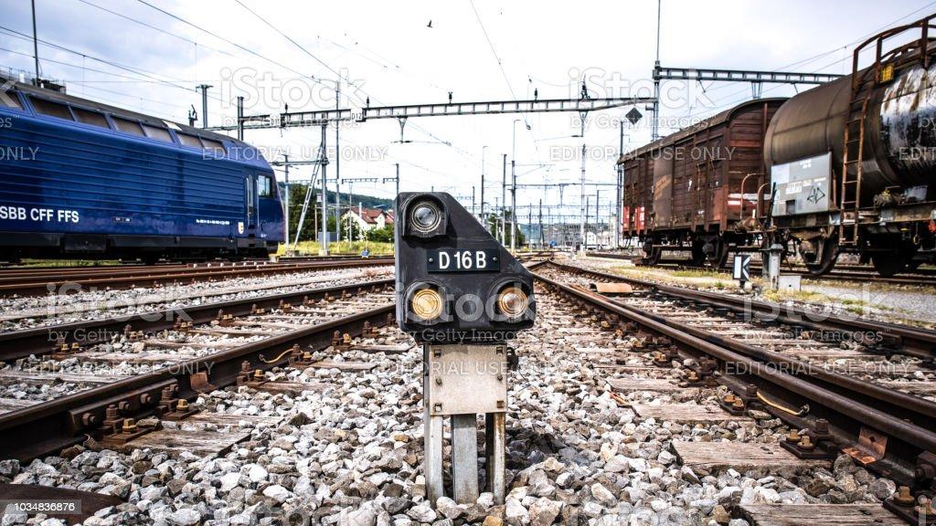 Zug-Signal von den Schweizerischen Bundesbahnen (SBB) – Foto