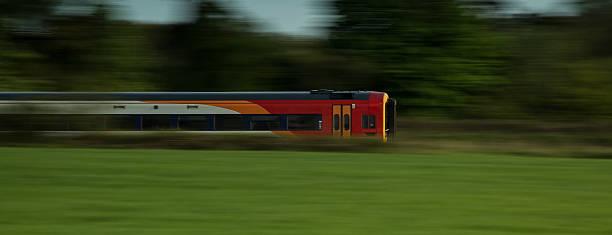 Cтоковое фото Поезд ускоряя прошел