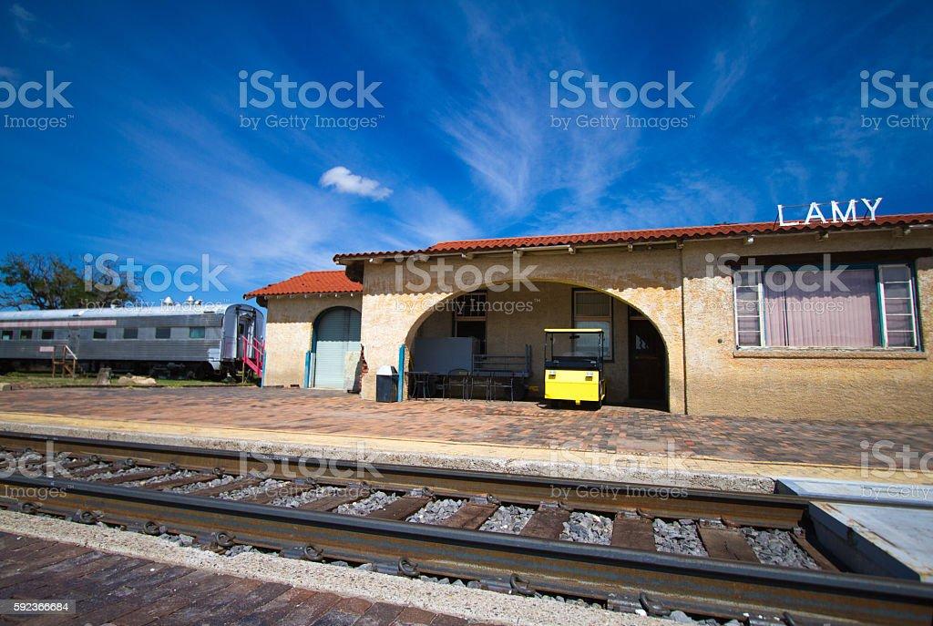 Train Station at Lamy, New Mexico stock photo