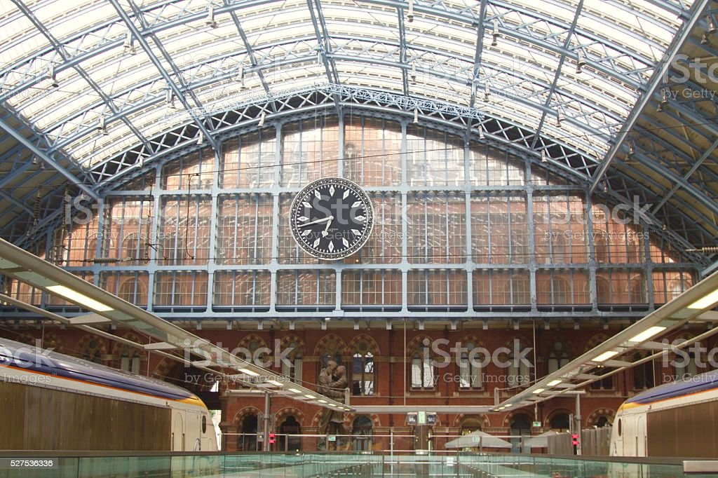 Train Station Clock stock photo