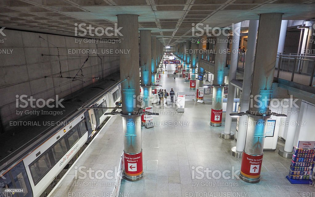Train station in Stansted stock photo