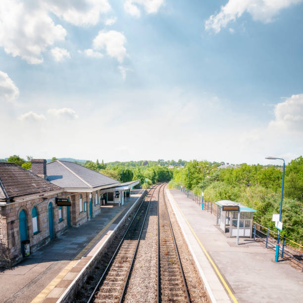 Train Station In The UK stock photo