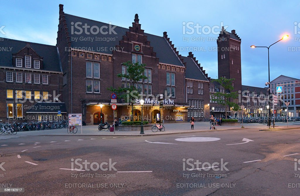 Train station of Maastricht, Netherlands stock photo