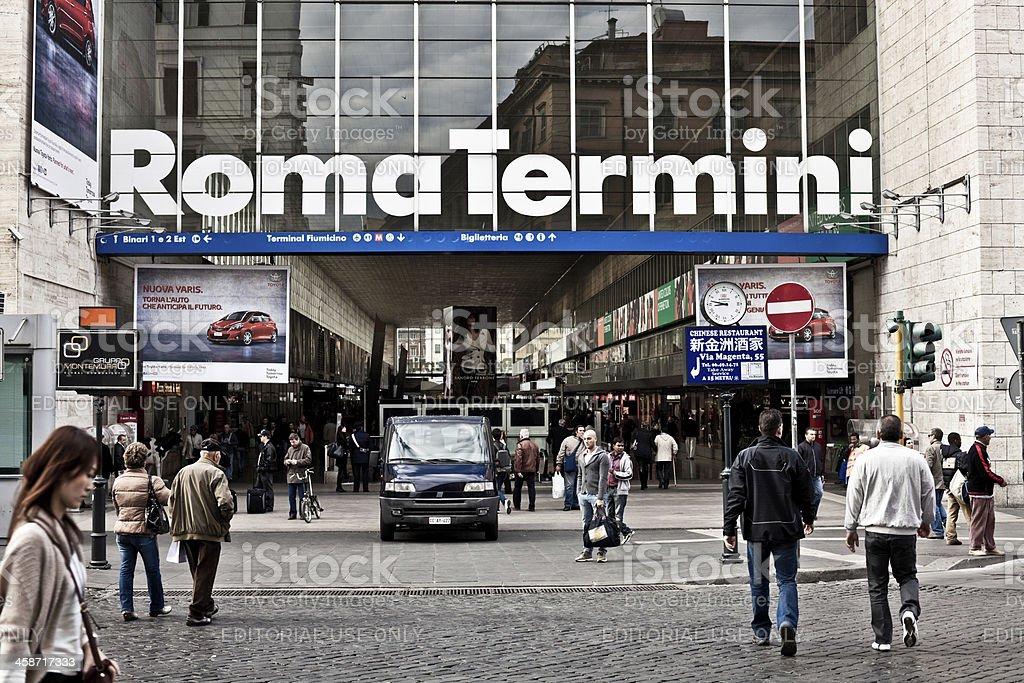 Train Station of Roma Termini, Italy stock photo