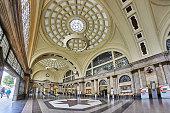 Barcelona, Spain - December 17, 2019: Entrance hall of the train station in Barcelona.