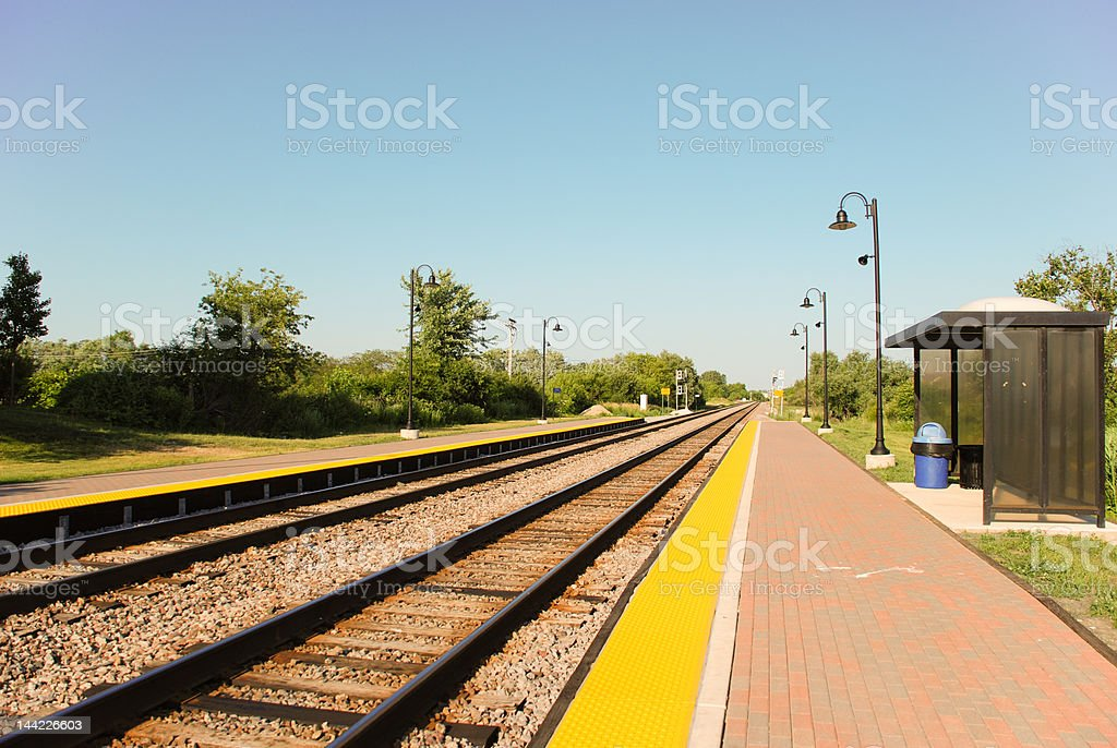 Train station stock photo