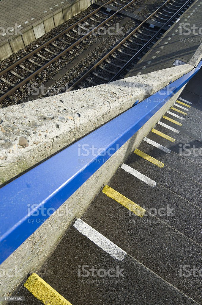 Train Station Platform royalty-free stock photo