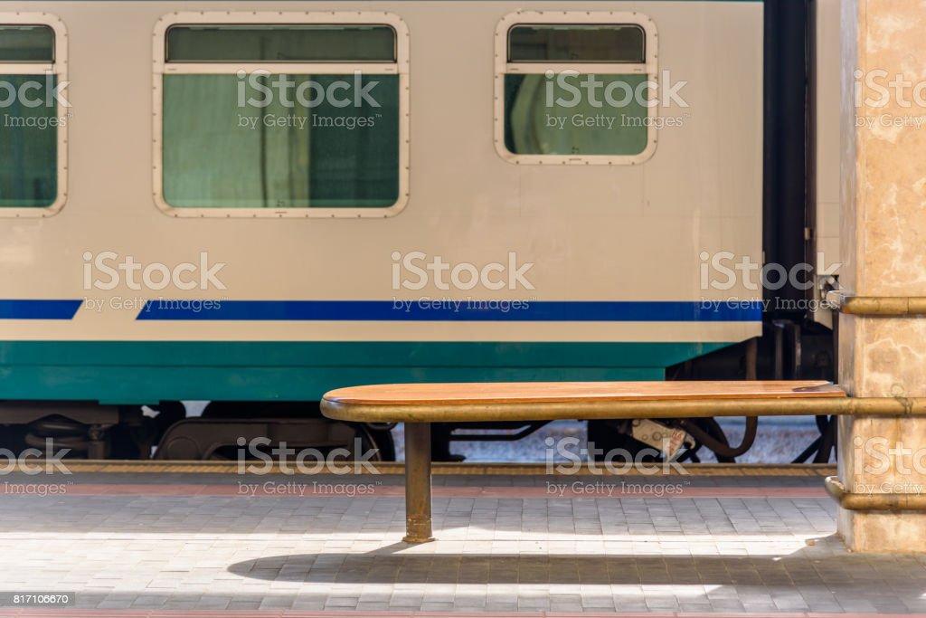 Train station platforms stock photo