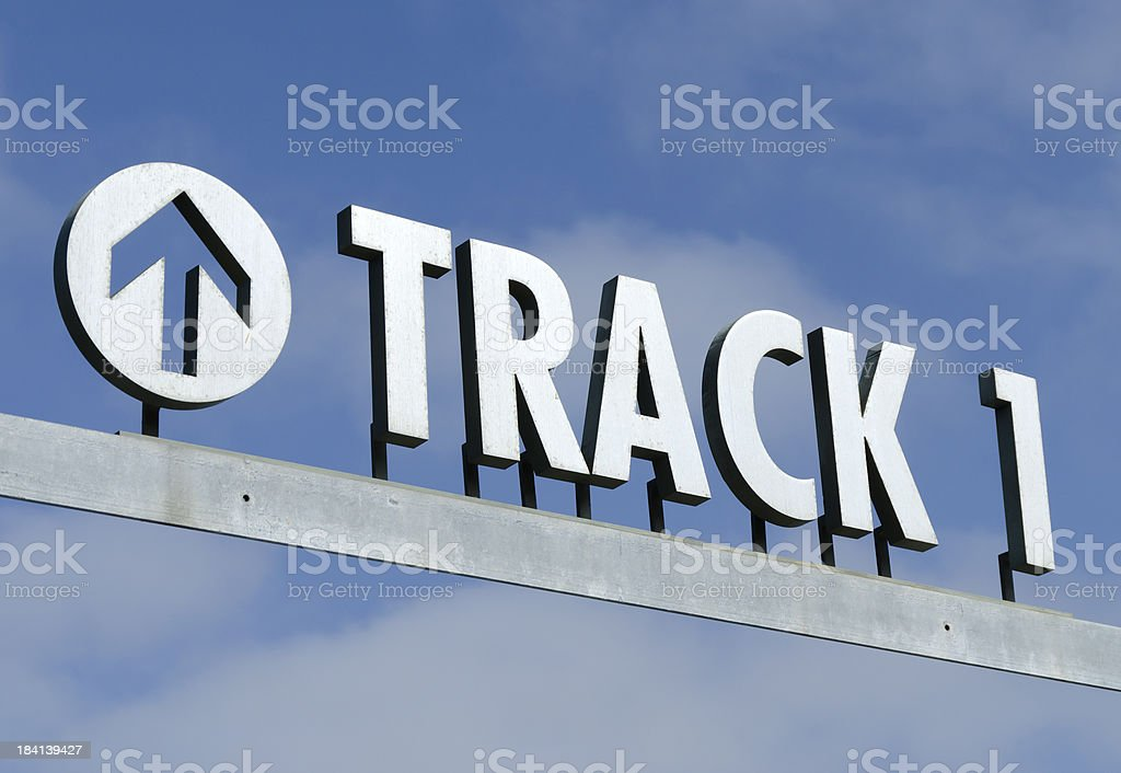 Train Station Sign royalty-free stock photo