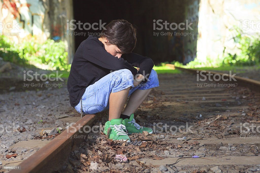 Train - Thinking About royalty-free stock photo