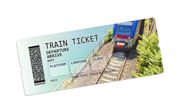 train ticket concept image - gutschein bahn stock-fotos und bilder