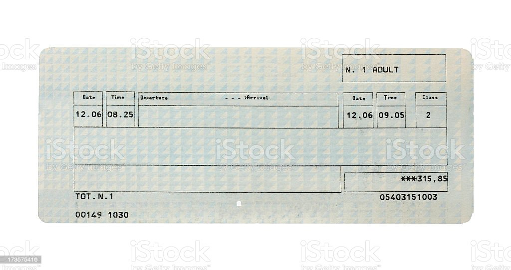 Train ticket Lizenzfreies stock-foto