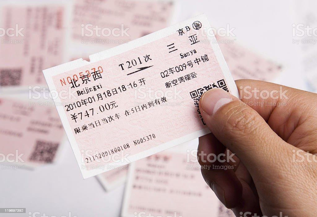train ticket stock photo