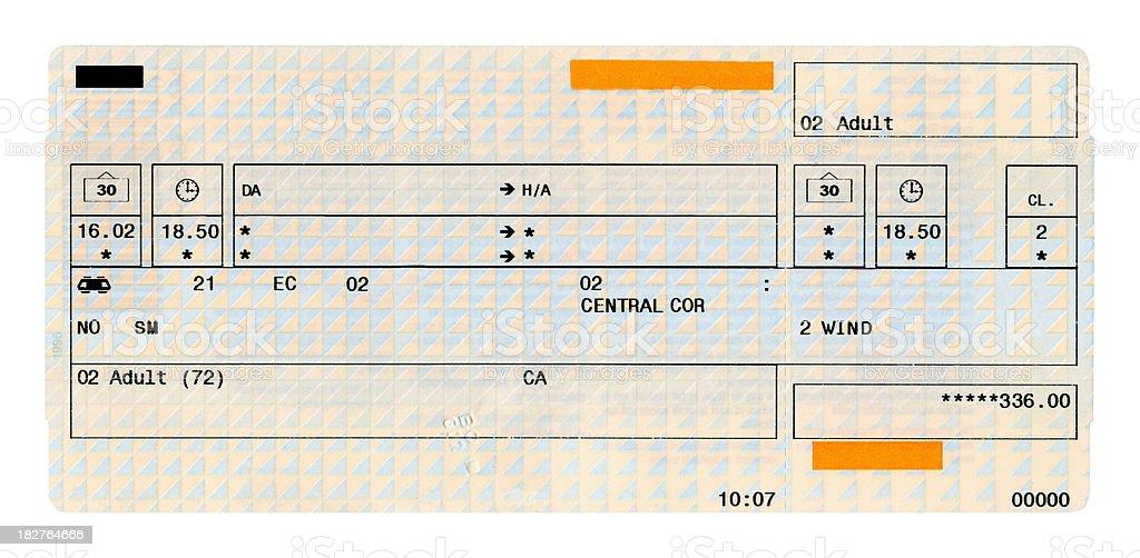 Train ticket – Foto