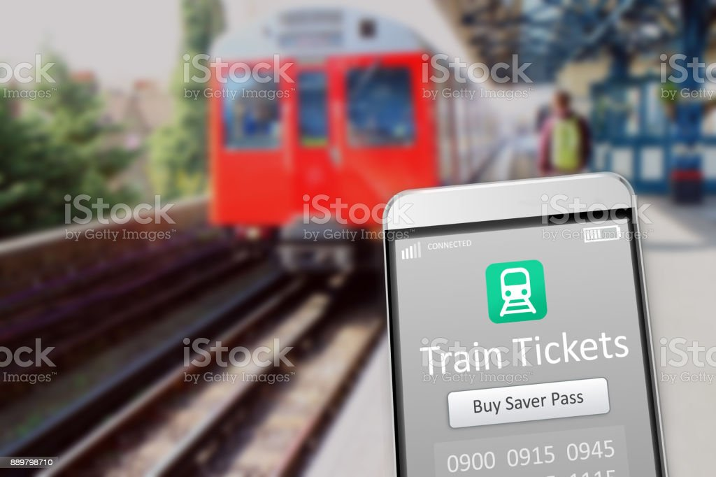 Train Tickets stock photo
