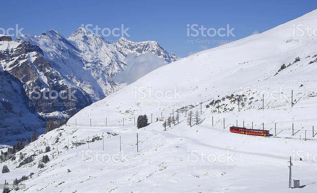 Train to Jungfraujoch, Switzerland royalty-free stock photo