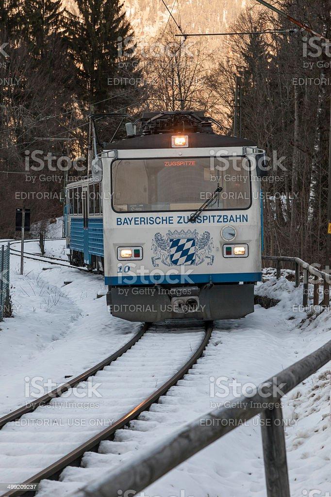 Train to Zugspitze Mountain Garmisch Germany stock photo