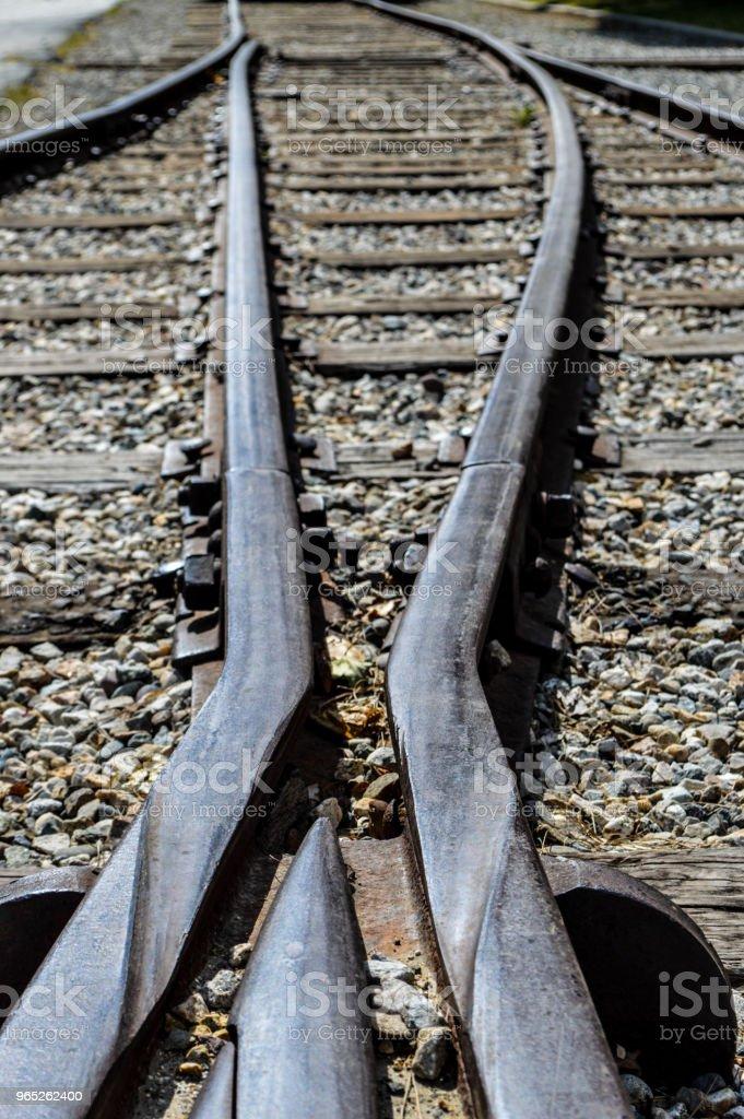 Train Track Crossing zbiór zdjęć royalty-free
