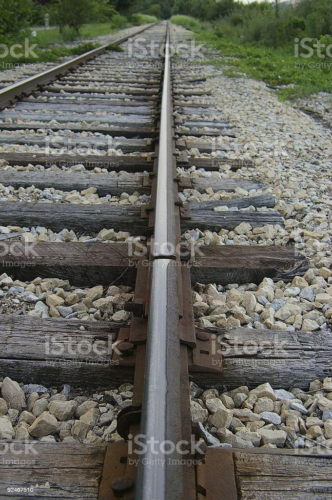Train Track Seam royalty-free stock photo