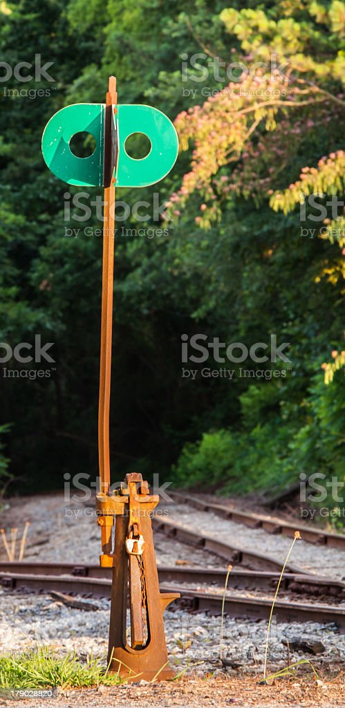 Train track switch rail crossing royalty-free stock photo