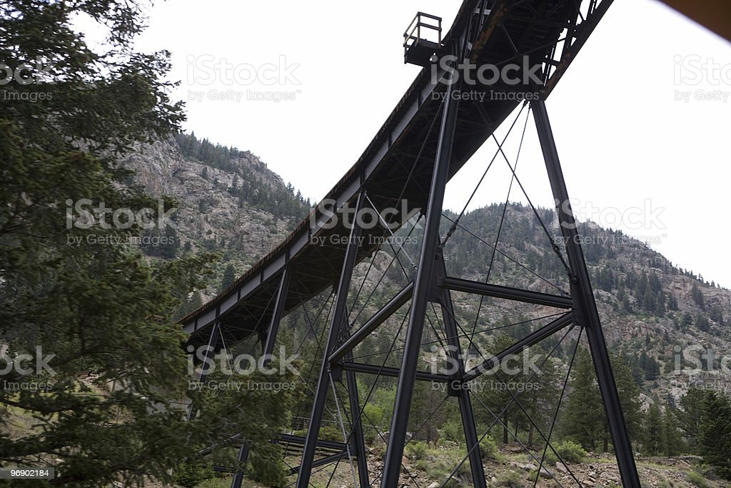 Train Tracks Above the Canon royalty-free stock photo