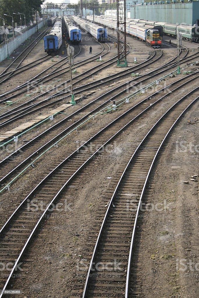 Train tracks royalty-free stock photo