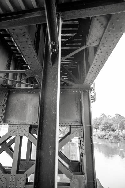 Train tracks underpass stock photo