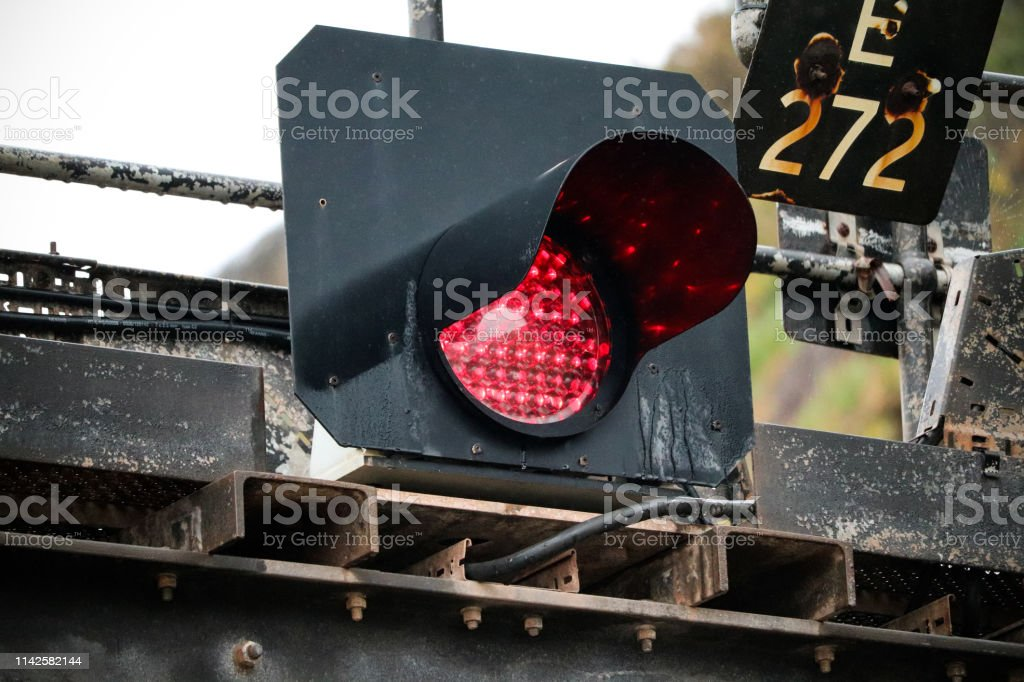 Train Traffic Lights - Royalty-free Art Stock Photo