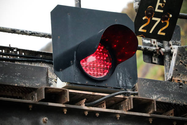Train Traffic Lights stock photo
