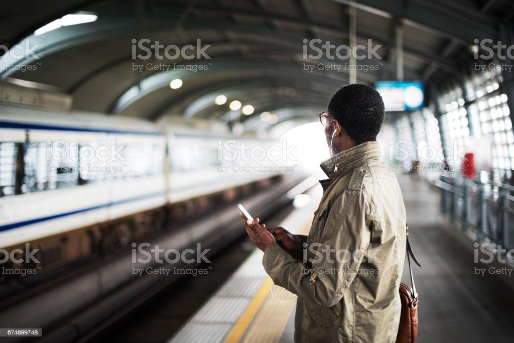 Train Transit Commuter Transportation Urban Concept stock photo