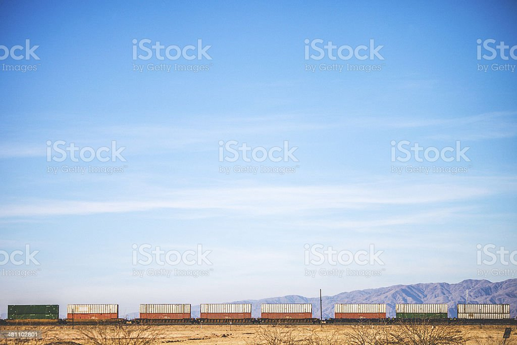 Train transportation. stock photo