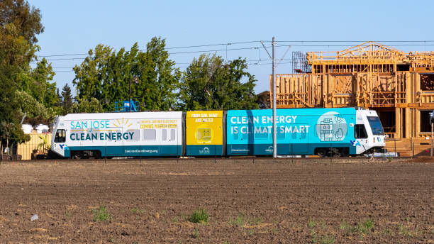 vta tren güney san francisco körfezi 'nde seyahat - sefer tarifesi stok fotoğraflar ve resimler
