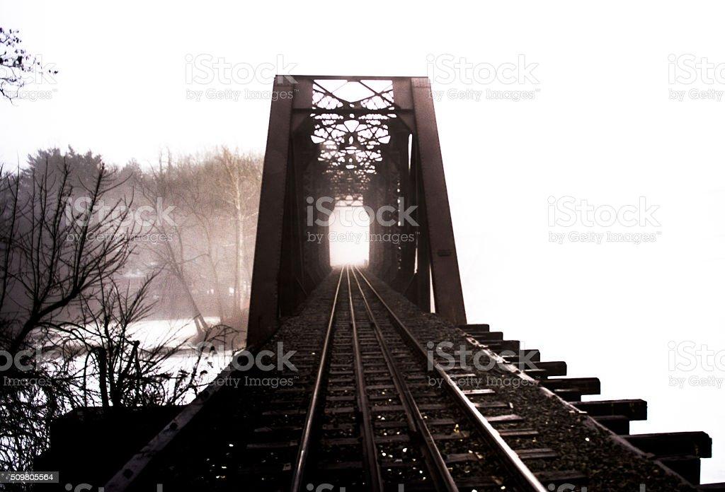train tressel stock photo