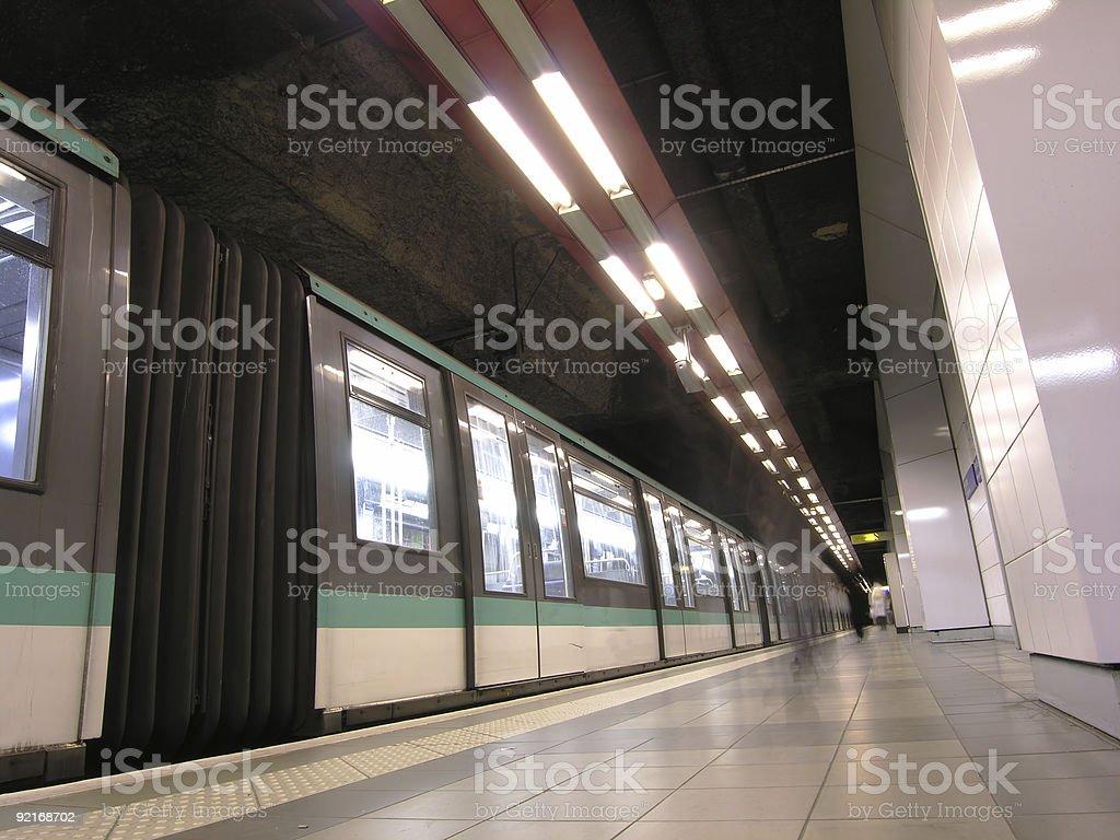Train Waiting royalty-free stock photo