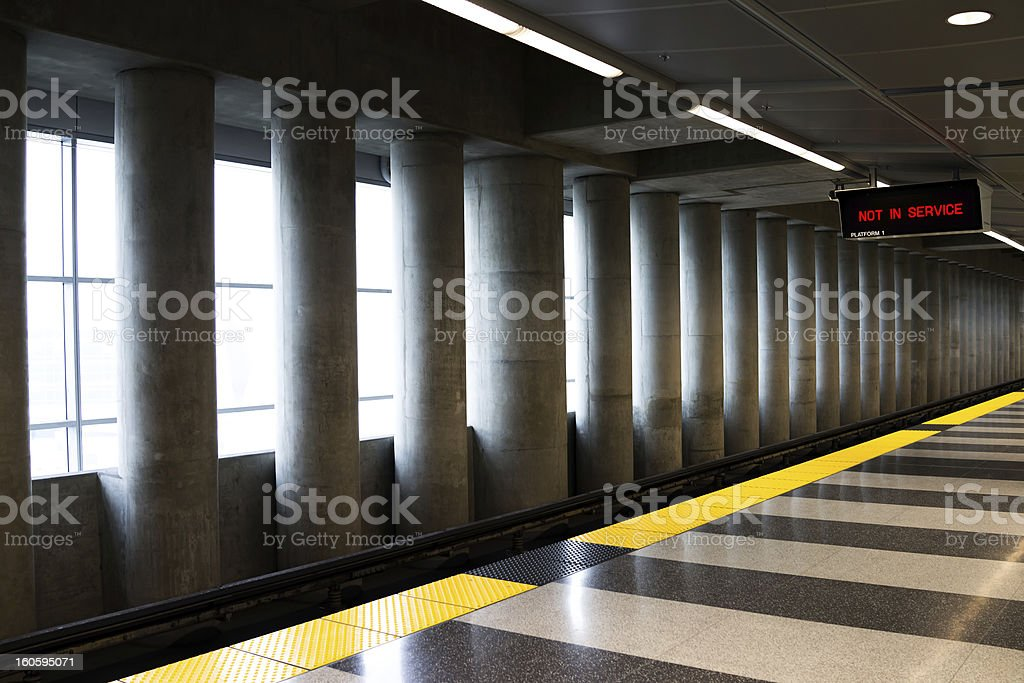 Train waiting platform royalty-free stock photo
