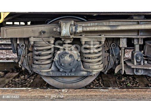 istock Train wheel 618515432