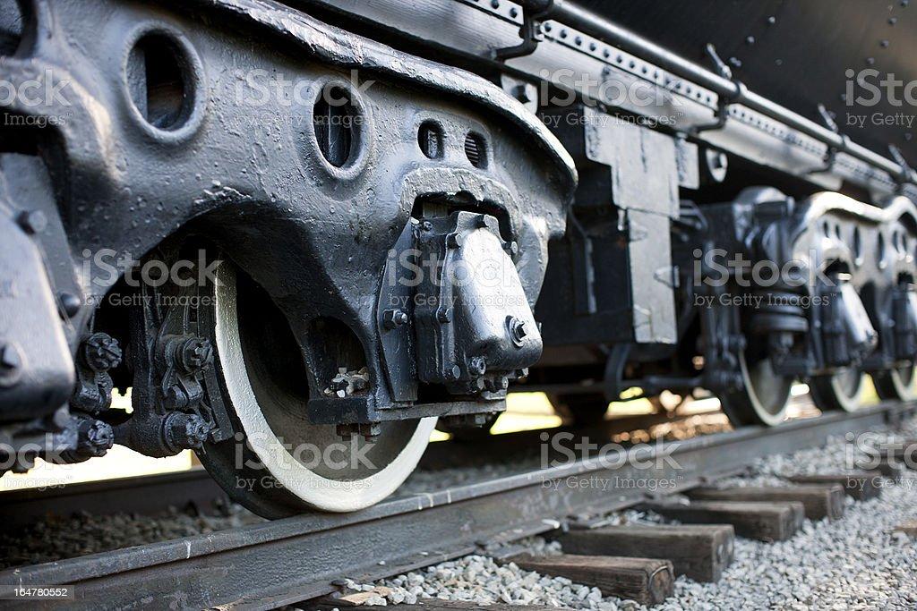 Train Wheels on Track stock photo