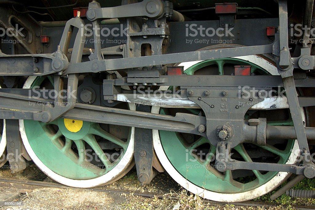 Treno ruote foto stock royalty-free