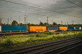 Train with cargo containers