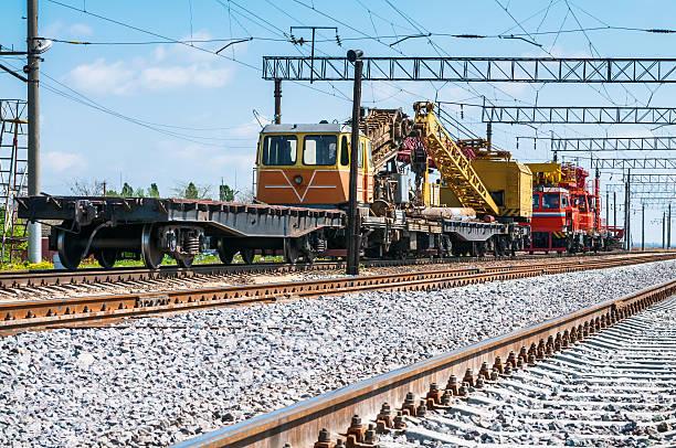 Trainiere mit besonderen track-Geräten von Reparaturarbeiten geschlossen – Foto