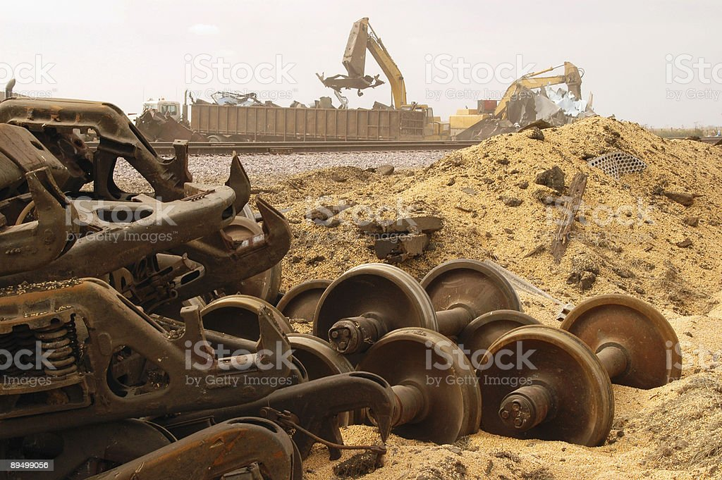 Train wreck royalty-free stock photo