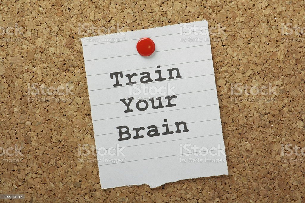 Train Your Brain stock photo