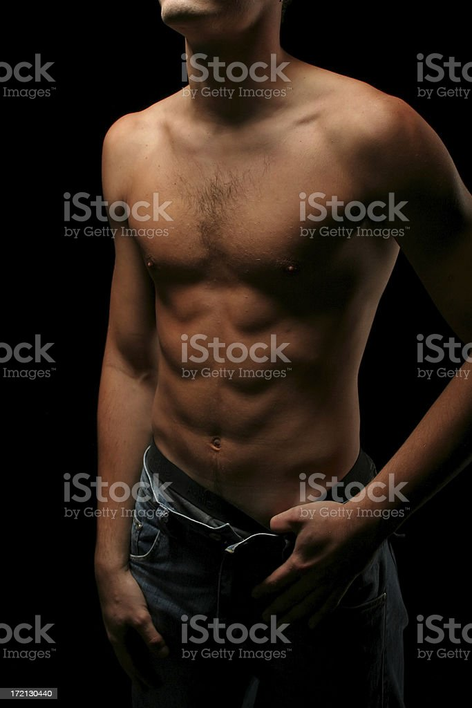 Trained male body royalty-free stock photo